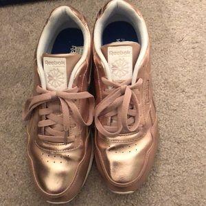 1f0089d5b84 Reebok Shoes - Rose gold metallic reebok